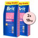 Brit Premium Junior Large 2 x 15kg + 6kg INGYEN