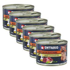 ONTARIO konzerv - Marhahús cukkinivel és lenmagolajjal, 6 x 200g