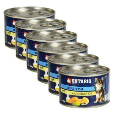 ONTARIO konzerv Multi Fish lazacolajjal, 6 x 200g
