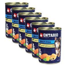 ONTARIO konzerv Multi Fish lazacolajjal, 6 x 400g