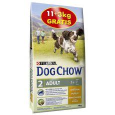 PURINA DOG CHOW ADULT Chicken 11 + 3 kg ajándék