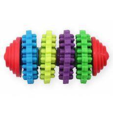 TPR Fogtisztító játék kutyáknak gumisörtékkel, 8 cm