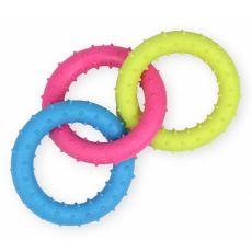 TPR Kutyajáték - színes, tüskés karikák 18,5 cm