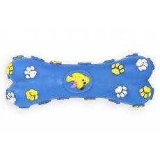 Kutyajáték - sípoló vinil csont, kék 15cm