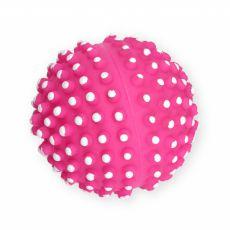 Kutyajáték – tüskés vinyllabda, rózsaszín 7 cm