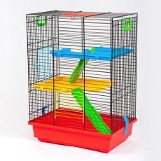 TEDDY II color - kalitka hörcsögök számára műanyag felszereléssel