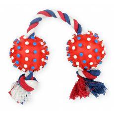 Húzogatós kutyajáték - labdák zsinóron, 8,5 x 50cm