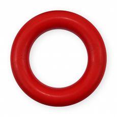 Karika kutyáknak kemény gumiból - piros, 9cm