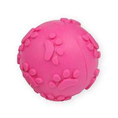 TPR Játék kutyáknak - sípoló labda, rózsaszín 6cm