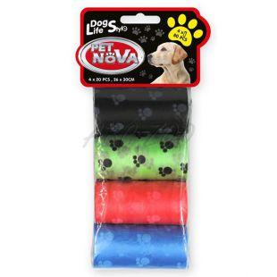 Pótzacskó kutyapiszokra, színes - 4 x 20 db