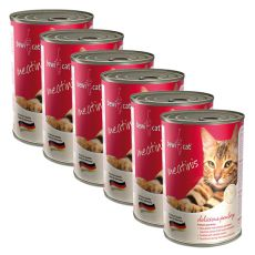 BEWI CAT Meatinis baromfihúsos - 6 x 400 g, 5+1 GRÁTISZ