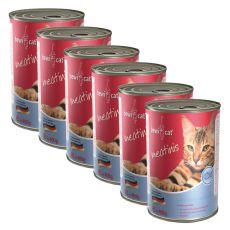 BEWI CAT Meatinis SALMON - 6 x 400 g, 5+1 GRÁTISZ
