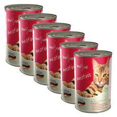 BEWI CAT Meatinis WILD - 6 x 400 g, 5+1 AJÁNDÉK