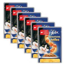 Felix Sensations - marhahús paradicsommal zselében, 6 x 100 g