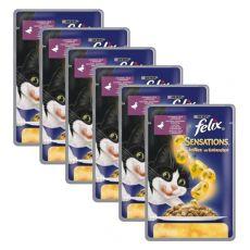 Felix Sensations - kacsa és spenót zselében, 6 x 100 g