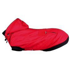 Palermo kapucnis télikabát kutyáknak, piros – 40 cm