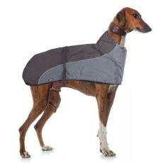 GREYHOUND galléros mellény kutyáknak, szürkésfekete - 70cm