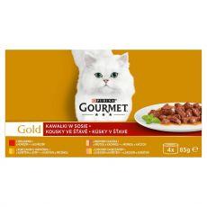 Gourmet GOLD konzervek - húsdarabok szószban, 4 x 85 g