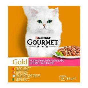 Gourmet GOLD konzerv - párolt és grillezett falatok, 8 x 85 g