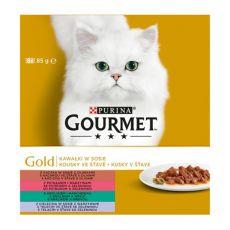 GOURMET GOLD konzervek - húsdarabok szószban, 8 x 85g