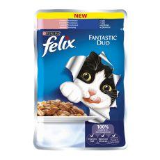 FELIX Fantastic Duo tasak - lazac és szardínia aszpikban, 100 g