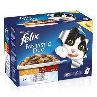 FELIX Fantastic Duo tasak - finom húskollekció aszpikban, 12 x 100 g