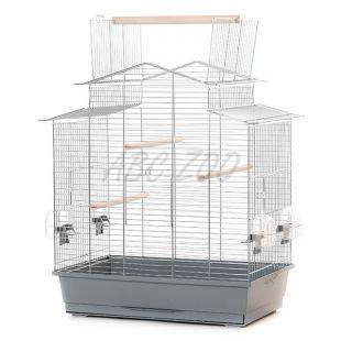 IZA III króm - kalitka papagáj részére - 58,5 x 38 x 65 cm