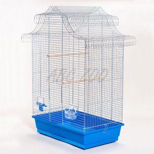 Kalitka papagájoknak - AMADINA króm - 61,5 x 41,5 x 85,5 cm