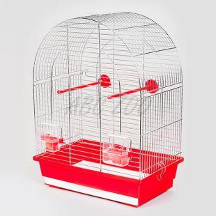 LUSI I króm - papagájketrec - 39 x 25 x 53 cm