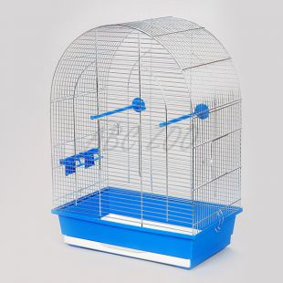 Papagájoknak kalitka, LUSI II króm - 45 x 28 x 63 cm