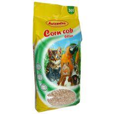 Corn Cob Litter kukoricaalom, 20 L - durva