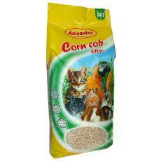 Corn Cob Litter kukoricaalom, 20 L - lágy