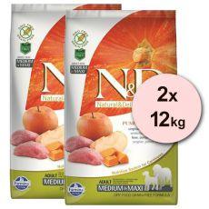 Farmina N&D dog GF PUMPKIN adult medium/maxi, boar & apple - 2 x 12kg