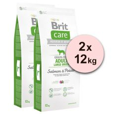 Brit Care Grain-free Adult Large Breed Salmon & Potato 2 x 12kg