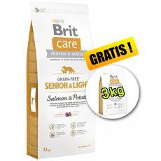 Brit Care Grain Free Senior Light Salmon & Potato 12kg + 3kg ajándék