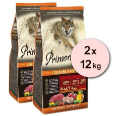 Primordial GF ADULT - bivaly és makréla 2 x 12 kg