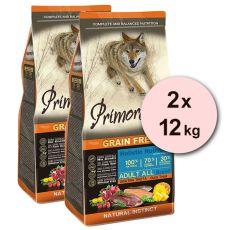 Primordial GF ADULT - kacsa és pisztráng 2 x 12 kg