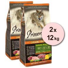 Primordial GF ADULT - rőtvad és pulyka 2 x 12 kg