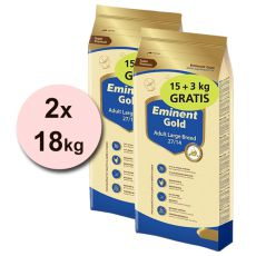 EMINENT GOLD Adult Large Breed 2 x 15 kg + 6 kg GRATIS