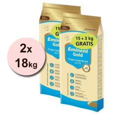 EMINENT GOLD Puppy Large Breed 2 x 15 kg + 6 kg GRATIS