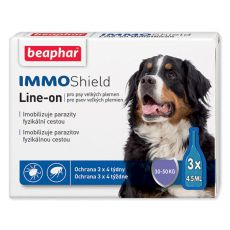 "BEAPHAR IMMO SHIELD Line-on KUTYA ""L"" 3 x 4,5 ml"