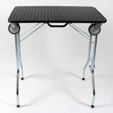 Trimmelőasztal kerekekkel 80 x 50 x 85 cm, fekete