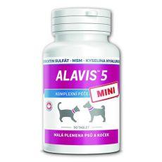 ALAVIS 5 MINI Készítmény a kutyák és macskák ízületeire - 90 tbl