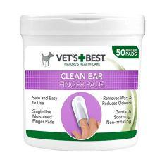 VET´S BEST törlőkendő a kutyák fülének tisztítására, 50 db