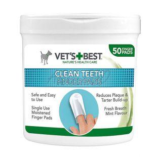 VET´S BEST törlőkendő a kutya fogának tisztítására, 50 db