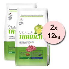 Trainer Natural Adult Maxi, marhahús és rizs 2 x 12 kg