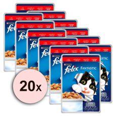 Felix táplálék - marhahús aszpikban, 20 x 100 g