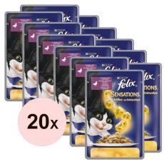 Felix Sensations - kacsa és spenót zselében, 20 x 100 g