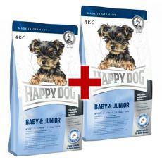 Happy Dog Mini Baby & Junior 4 kg + 4 kg GRÁTISZ