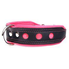 Neo fényvisszaverő nyakörv, fekete-rózsaszín 4 cm x 43 - 52 cm